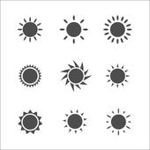 Sun icon. Vector illustration. — Stock Vector