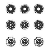 Gear wheels isolated on light background — Stock Vector