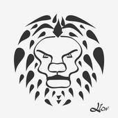 Lion head - vector illustration — Stock Vector