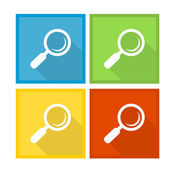 Magnifier Glass and Zoom Icons — Stock Vector