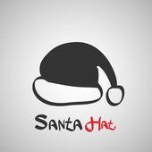 Santa hut-symbol — Stockvektor