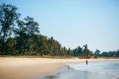 Beach scene and sky — Fotografia Stock