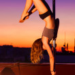 Young pole dance woman — Stock Photo #56504515