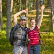 Young tourists couple — Stock Photo #61823415