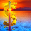 Dollar thermometer concept — Stock Photo #61823585