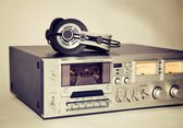 Vintage cassette stereo tape deck recorder  — Stock Photo