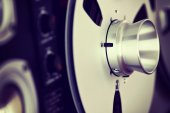 Analog Stereo Open Reel Tape Deck Recorder Spool — Stock Photo