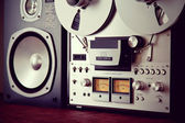 Analog Stereo Open Reel Tape Deck Recorder VU Meter Device  — Stock Photo