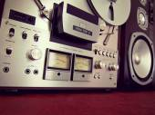 Analog Stereo Open Reel Tape Deck Recorder VU Meter — Stock fotografie