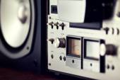 Analog Output Control of Stereo Open Reel Deck — Foto Stock