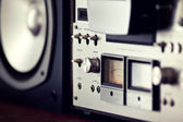 Analog Output Control of Stereo Open Reel Deck — Stock Photo