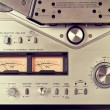 Analog Stereo Open Reel Tape Deck Recorder VU Meter Device Close — Stock Photo #53679093