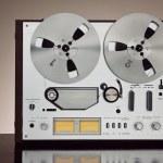 Analog Stereo Open Reel Tape Deck Recorder Vintage Closeup — Stock Photo #54075159