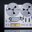 Analog Stereo Open Reel Tape Deck Recorder Vintage Closeup — Stock Photo #54075165
