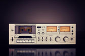 Vintage Stereo Cassette Tape Deck Recorder — Stock Photo