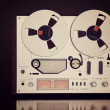 Analog Stereo Open Reel Tape Deck Recorder Vintage Closeup — Stock Photo #55016469