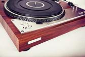 Stereo Turntable Vinyl Record Player Analog Retro Vintage  — Stock Photo