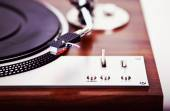 Stereo Turntable Vinyl Record Player Analog Retro Vintage  — Stock Photo