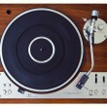 Stereo Turntable Vinyl Record Player Analog Retro Vintage — Stock Photo #57695075