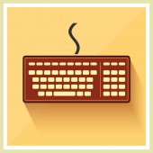Classic Computer Keyboard Retro — Stock Vector