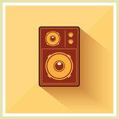 Retro Loudspeaker Flat Vintage Style vector  — Stock Vector