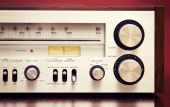 Vintage Stereo Radio Receiver  — Stok fotoğraf