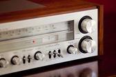 Vintage Stereo Radio Receiver — Stock Photo