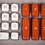 Large Vintage Calculator Keyboard — Stock Photo #77596006