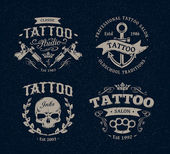 Tattoo Studio Emblems — Stock Vector