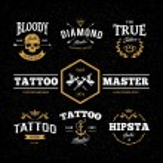 Tattoo Studio Emblems — Stock Vector #52732493