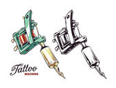 Tattoo Machine Vector — Stock Vector
