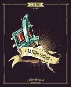 Tattoo Legend Poster — Stock Vector