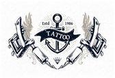 Tattoo Studio Poster — Stock Vector