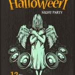 Halloween Party Poster — Stock Vector #54594927