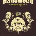 Halloween Party Poster — Stock Vector #54595009