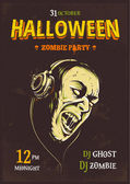 Halloween Party Poster — Stock Vector