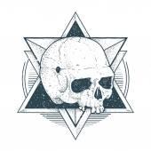 абстрактное хипстерское искусство черепов — Cтоковый вектор