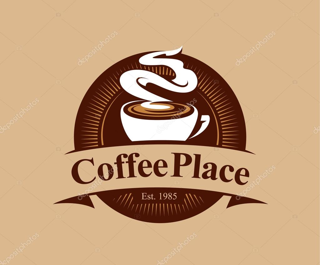 Coffee Place Logo — Stock Vector © Vecster #68221973