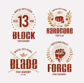 Fight Club Emblems — Stock Vector