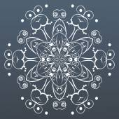 Ornamental round lace. Vector illustration — Stok Vektör