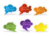 Bolle di discorso di colore impostato per il disegno — Vettoriale Stock