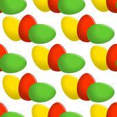 Easter egg seamless vector pattern. — Stock Vector