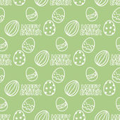 Easter egg seamless vector pattern. — Vettoriale Stock