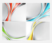Abstract backgrounds set with colorful lines — ストックベクタ