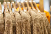 Wool sweater on a hanger in the store — Stock Photo