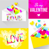 Envelope with hearts for Valentine's Day — Vetorial Stock