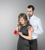 A man proposing to his girlfriend  — Stock Photo