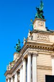 Lviv Opera theater building side view — Stock Photo