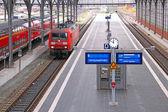 Lubeck railway station — Stock Photo