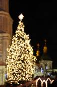 St. Sophia Cathedral and Christmas tree in Kyiv — Stock Photo